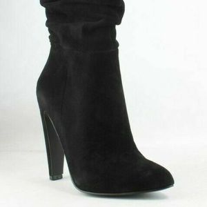 Steve Madden Carrie Black Suede Fashion Boot 7
